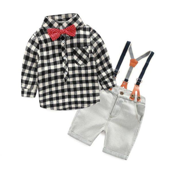 shirt plus Suspender Pants Set for Boy sale